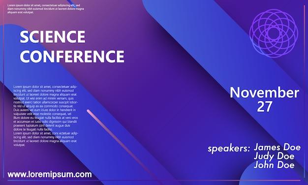 Modelo de cartaz - conferência científica Vetor Premium