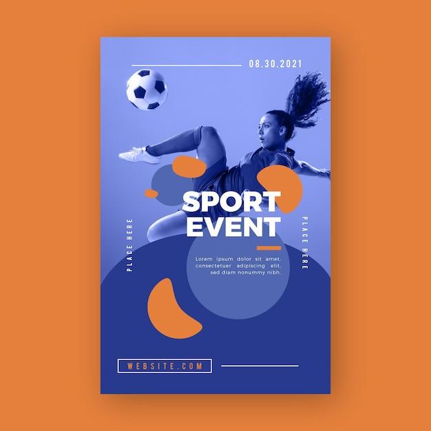 Modelo de cartaz de evento esportivo Vetor grátis