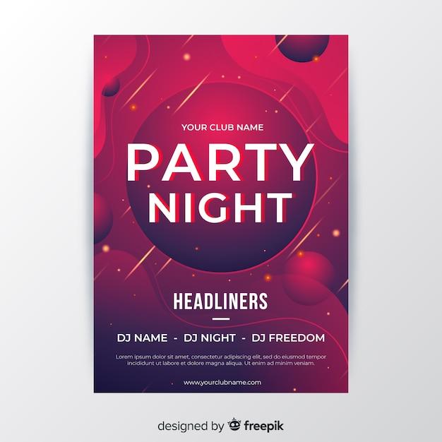 Modelo de cartaz de festa noite abstrata Vetor grátis