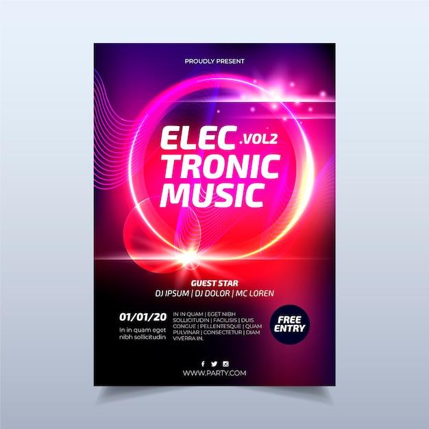 Modelo de cartaz de música abstrata Vetor grátis