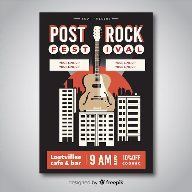 Modelo de cartaz de música retrô Vetor grátis