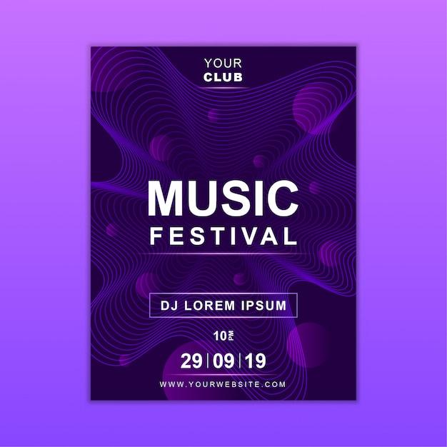 Modelo de cartaz de música Vetor Premium