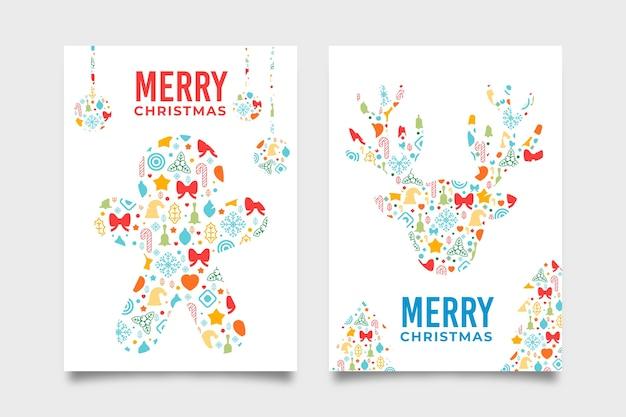 Modelo de cartaz de natal com formas geométricas coloridas Vetor grátis