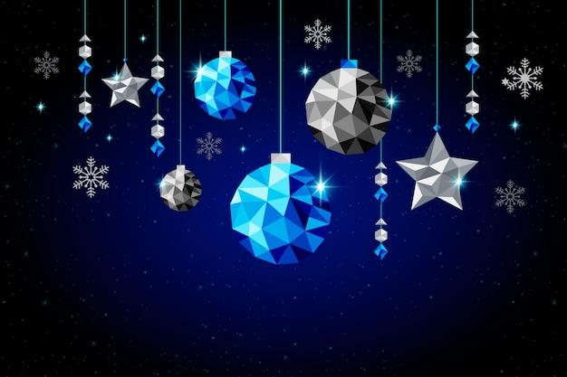 Modelo de cartaz de natal em estilo poligonal Vetor grátis