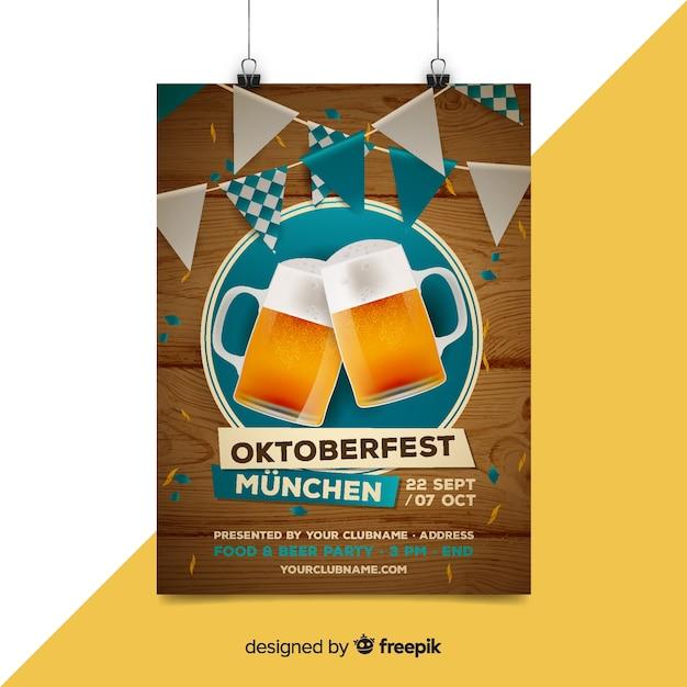 Modelo de cartaz de oktoberfest criativo Vetor grátis