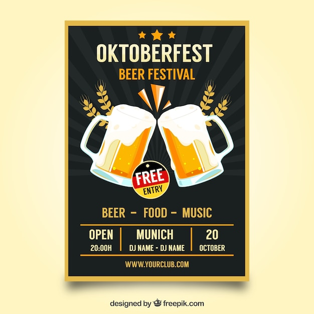 Modelo de cartaz de oktoberfest Vetor grátis