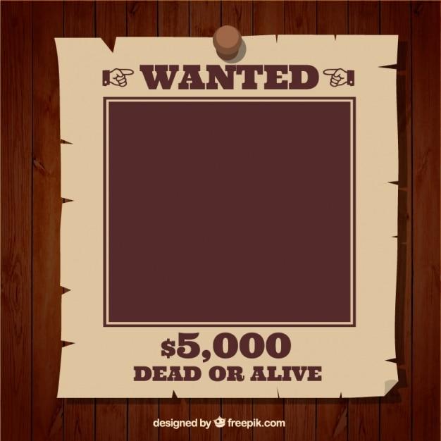 Modelo de cartaz de procurado Vetor grátis