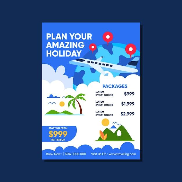 Modelo de cartaz de vendas itinerante com ilustrações Vetor grátis