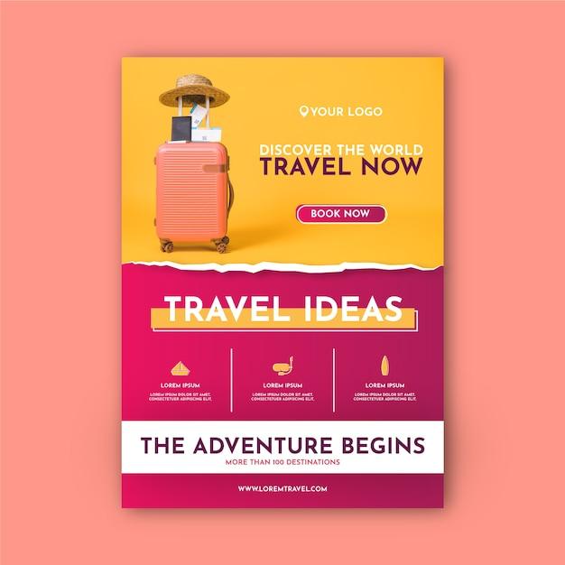 Modelo de cartaz de viagens Vetor grátis