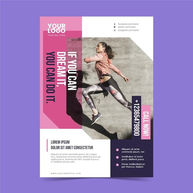 Modelo de cartaz do esporte Vetor grátis