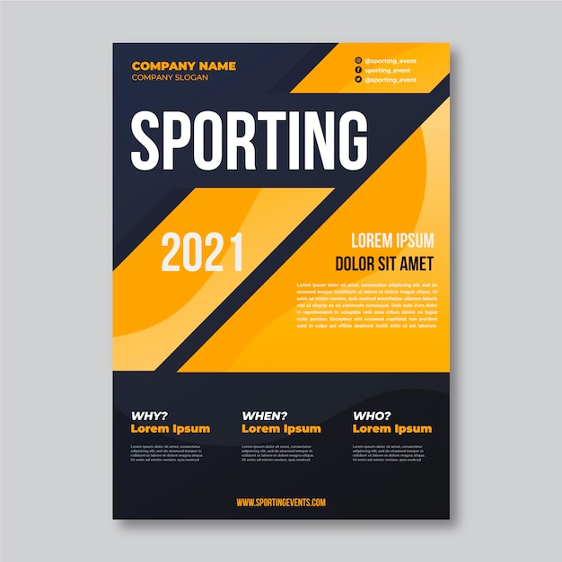 Modelo de cartaz - evento esportivo 2021 Vetor grátis