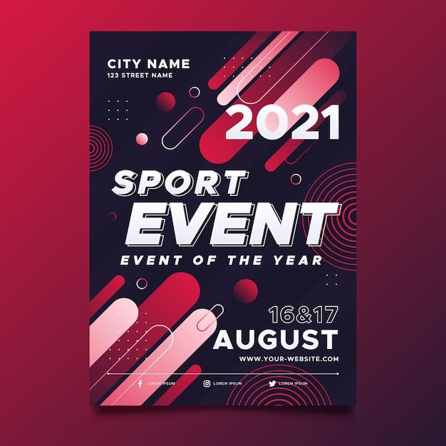Modelo de cartaz - evento esportivo Vetor grátis