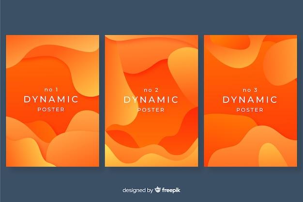 Modelo de cartaz moderno com formas dinâmicas Vetor grátis