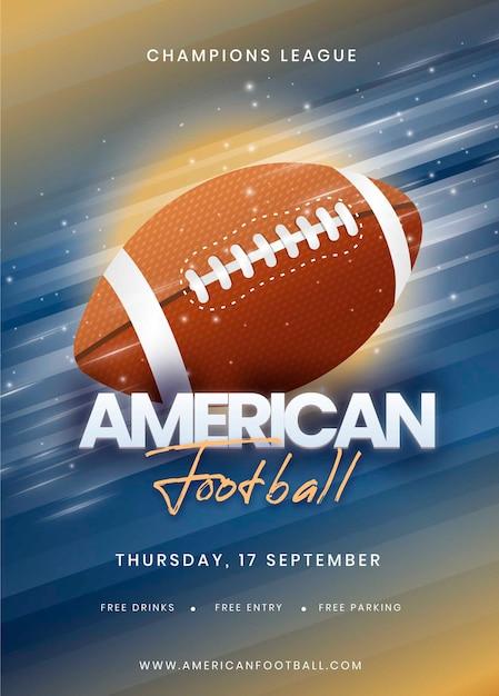 Modelo de cartaz para evento de futebol americano Vetor grátis