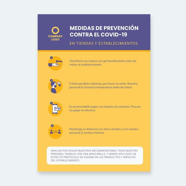 Modelo de cartaz para prevenção de coronavírus Vetor grátis