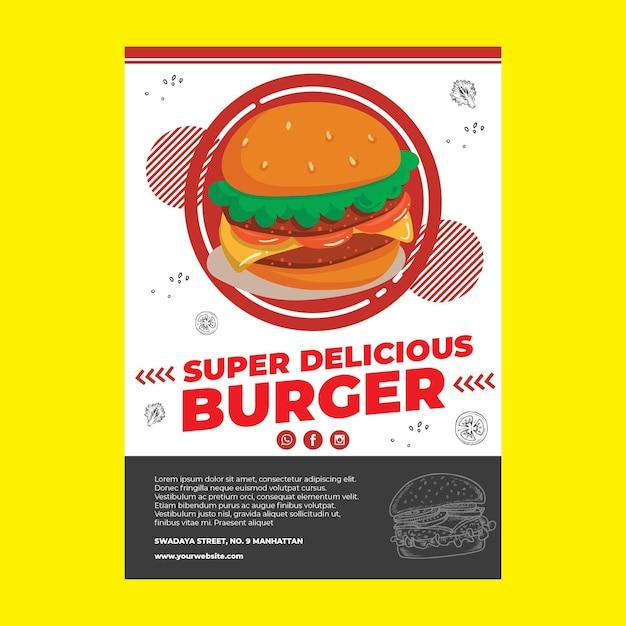 Modelo de cartaz - restaurante Vetor grátis