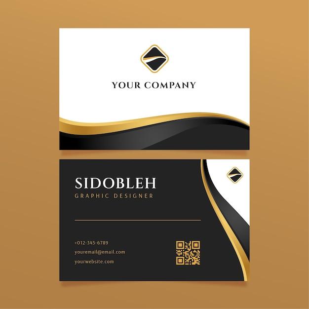 Modelo de carteira de identidade empresarial de luxo Vetor grátis