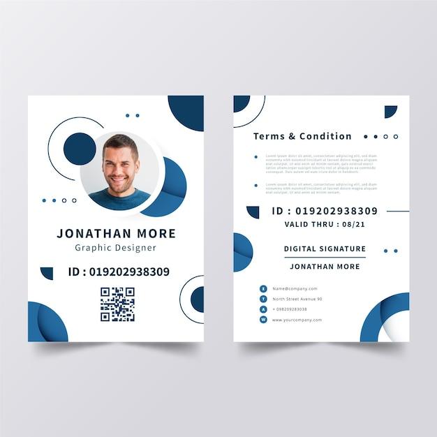 Modelo de cartões de identificação minimalistas Vetor grátis