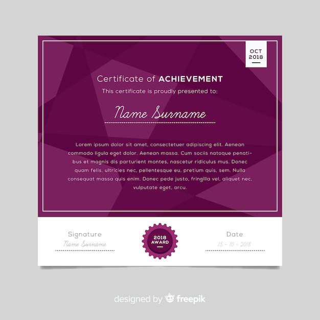 Modelo de certificado abstrato Vetor grátis