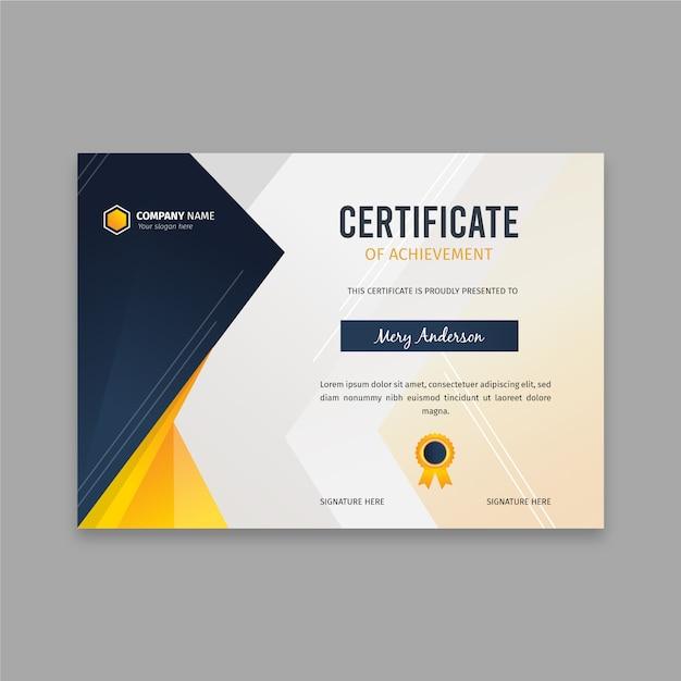 Modelo de certificado apartamento elegante Vetor Premium