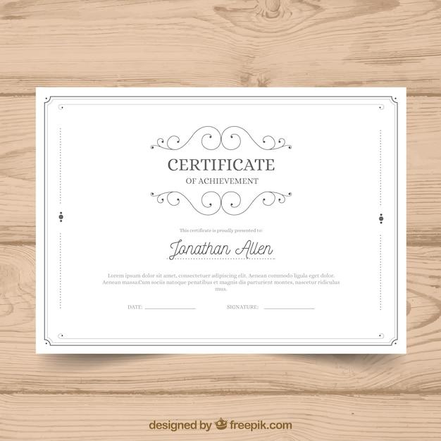 Modelo de certificado com estilo vintage Vetor grátis
