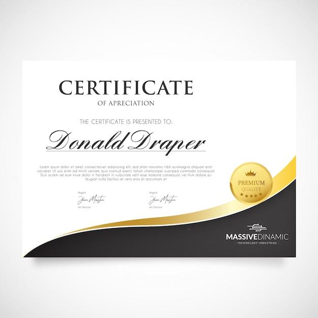 Modelo de certificado de apreciação moderna Vetor grátis