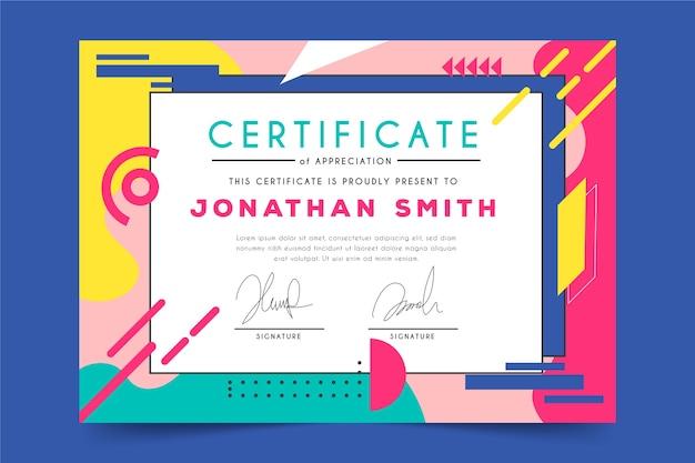 Modelo de certificado de desenho geométrico abstrato Vetor grátis