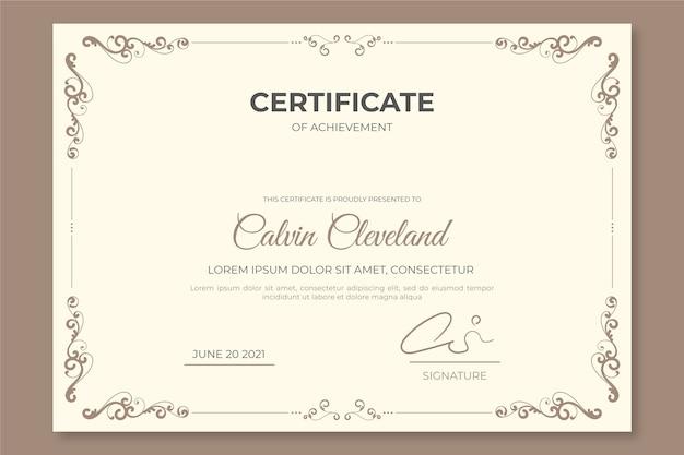 Modelo de certificado elegante Vetor grátis