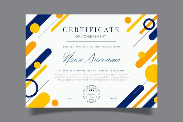 Modelo de certificado geométrico abstrato Vetor grátis