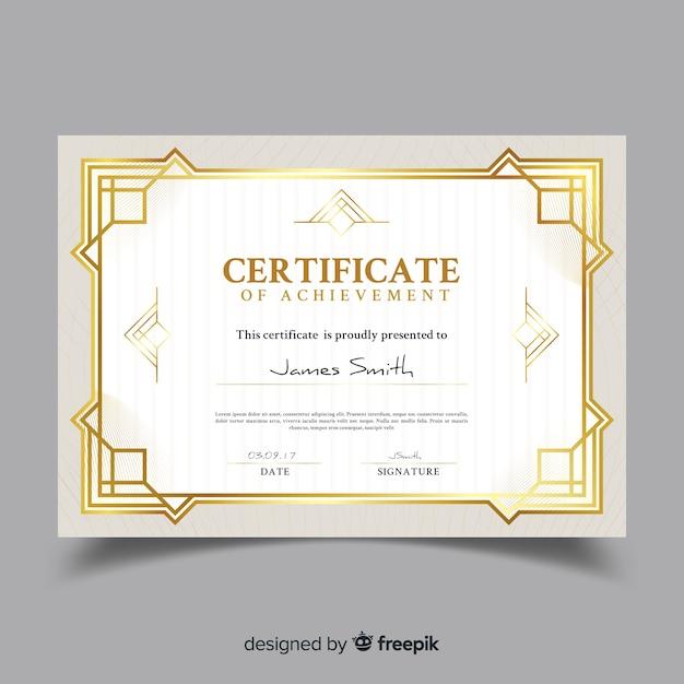 Modelo de certificado ornamental elegante Vetor grátis