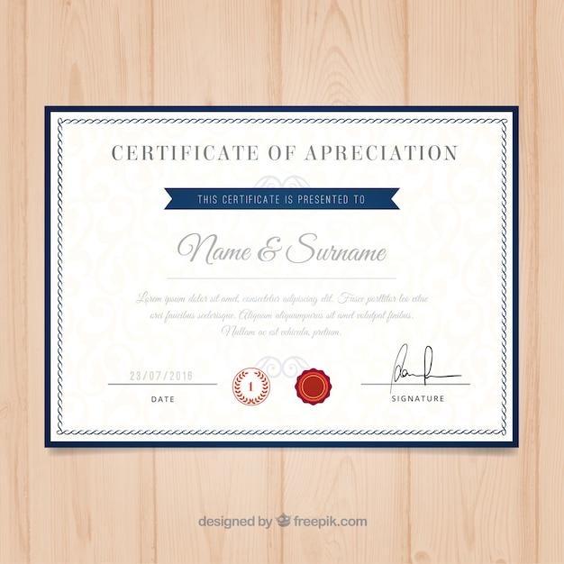 Modelo de Certificado University   Baixar vetores grátis