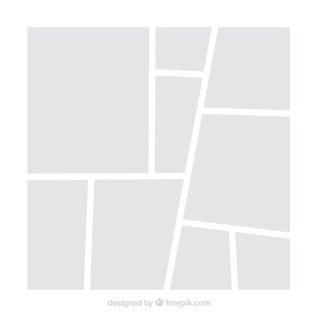 Modelo de colagem de moldura branca foto Vetor grátis
