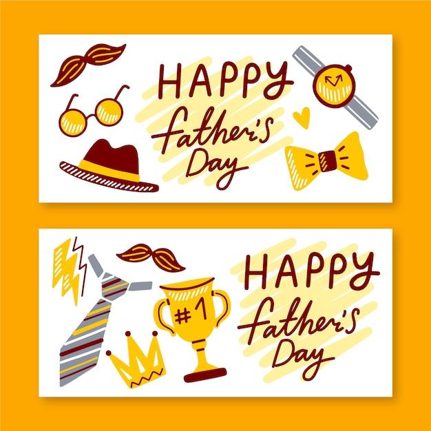 Modelo de coleção de banner de dia dos pais Vetor grátis