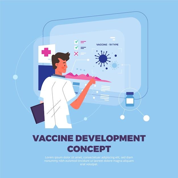 Modelo de conceito de desenvolvimento de vacina Vetor grátis