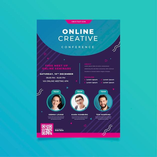 Modelo de convite de banner para webinar Vetor grátis