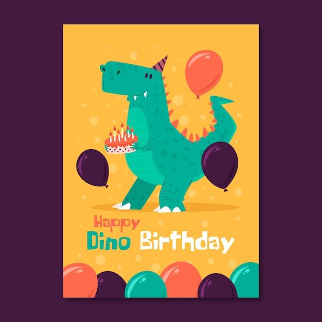 Modelo de convite de cartão de aniversário dia das crianças Vetor Premium