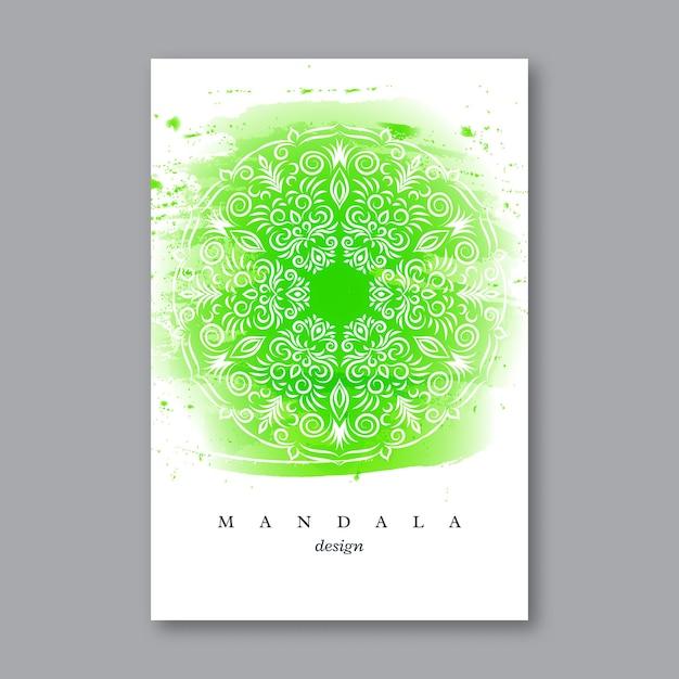 Modelo de convite de cartão de casamento com mandala desenhada à mão Vetor grátis
