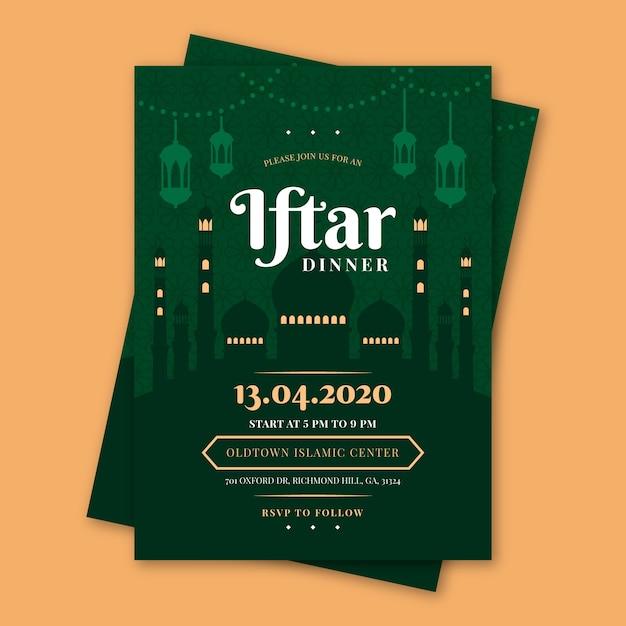 Modelo de convite iftar Vetor grátis