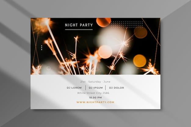 Modelo de convite para festa com foto Vetor grátis