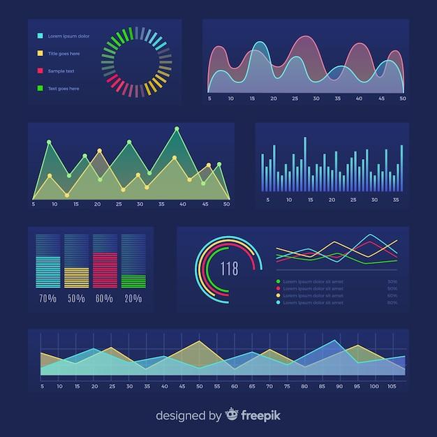 Modelo de crescimento de ilustração de negócios Vetor grátis