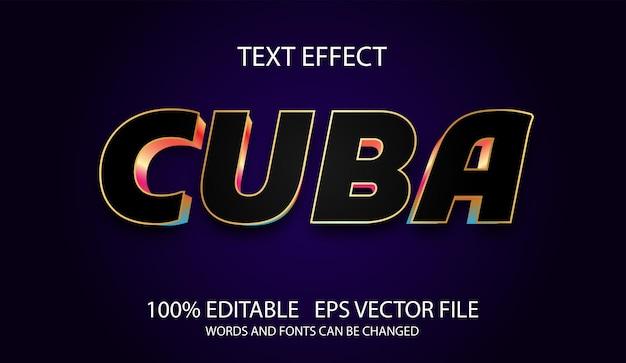 Modelo de cuba moderno com efeito de texto editável Vetor Premium