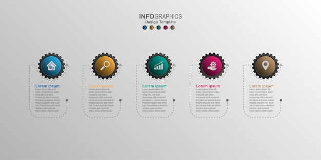 Modelo de design criativo infográfico Vetor Premium