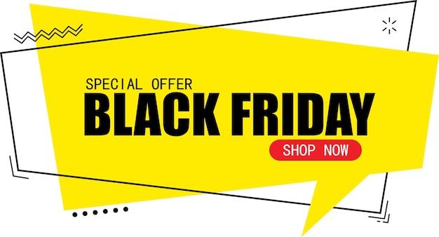 Modelo de design de banner de venda na sexta-feira negra Vetor Premium