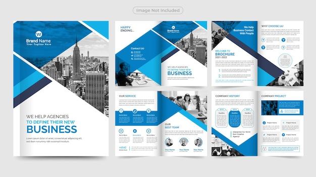 Modelo de design de brochura profissional para negócios Vetor Premium