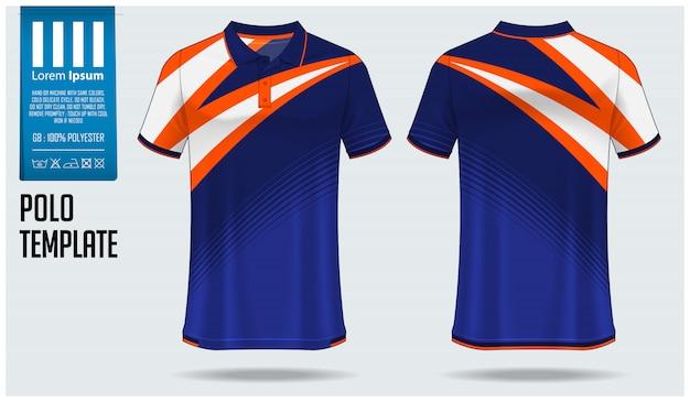 Modelo de design de camisa polo. Vetor Premium
