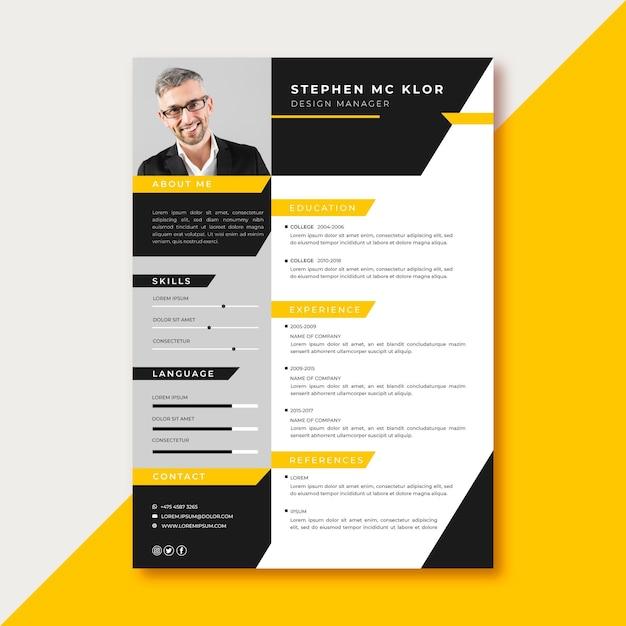 Modelo de design de candidatura de emprego Vetor grátis