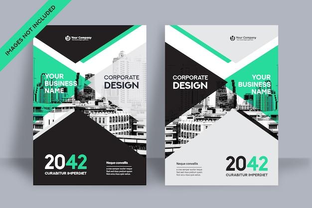 Modelo de design de capa de livro corporativo em a4 Vetor Premium