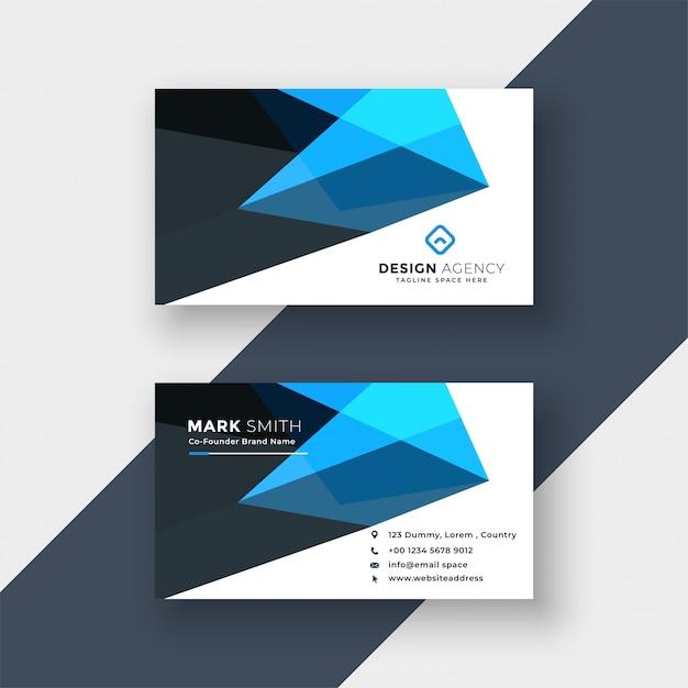 Modelo de design de cartão abstrato azul Vetor grátis