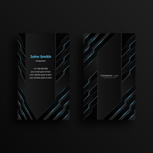 Modelo de design de cartão de visita criativo com design futurista Vetor Premium
