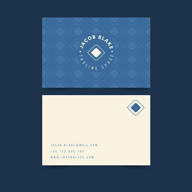 Modelo de design de cartão de visita Vetor grátis